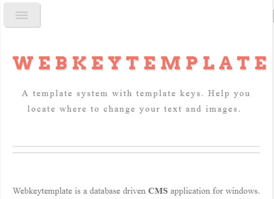 webkeytemplate